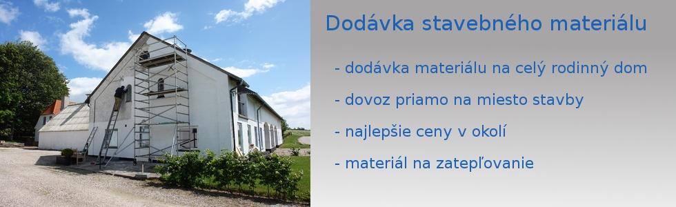 Dodávka stavebného materiálu